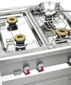 Tiefgezogene Kochmulde für einfachste Reinigung