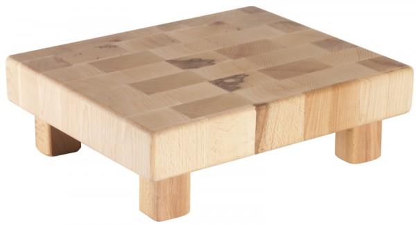 Buffet-Holzblock GN 1/2 aus 5 cm Buchenstirnholz
