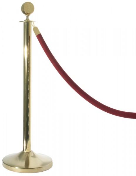 Abgrenzungsseil, schwarz 150cm mit goldfarbener Öse