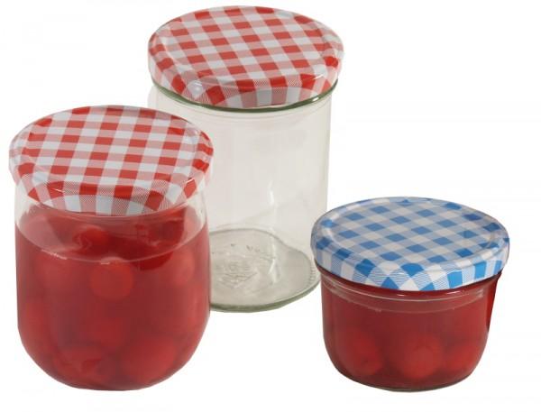 Einkochglas 120 ml mit Deckel 12-er Set