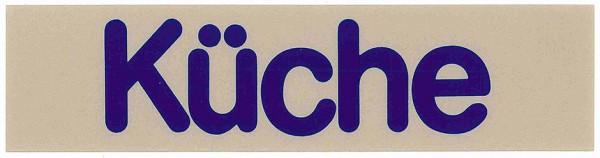 Wortschild KÜCHE