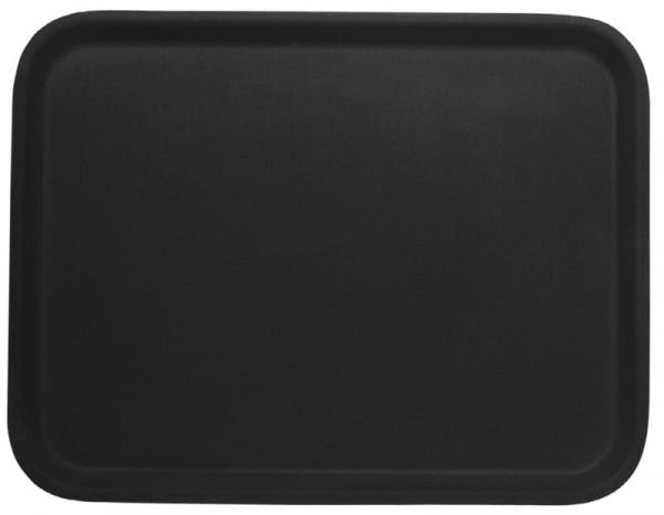 Tablett, rechteckig,rutschfest 61 x 43 cm, braun