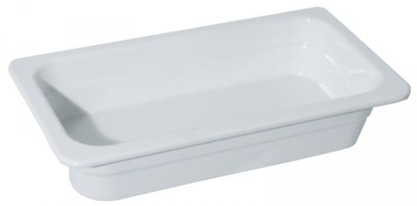 GN 1/3 Melamin, weiß 65 mm