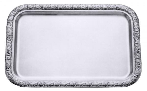 Tablett rechteckig 43 x 30 cm mit verziertem Rand