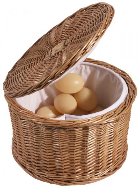 Eierkorb 26 cm aus Vollweide, innen gepolstert