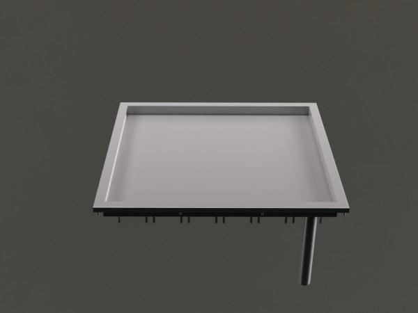 Grillplatte, glatte Bratfläche, 2 Heizzonen, B 850