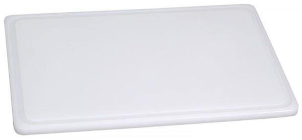 Schneidbrett, weiß 60 x 40 x 2 cm mit Saftrille