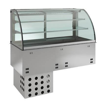 Einbaukühlvitrine - kundenseitig geschlossen - 2 Ablagen