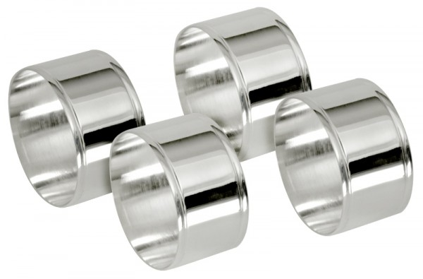 Serviettenring, versilbert runde Form, Set a 4 Stück