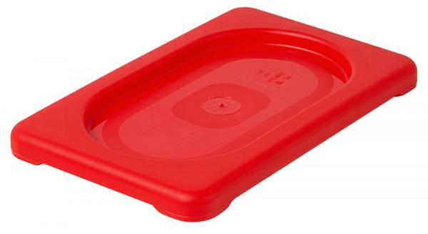 GN-Deckel 1/9, rot aus Polypropylen