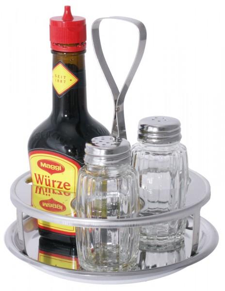 Menage dreiteilig Pfeffer/Salz ohne Maggiflasche