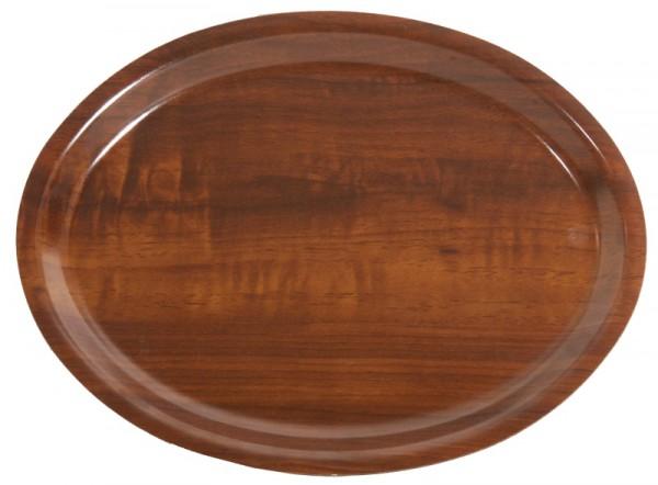 Ovales Tablett 29 x 21 cm Nussbaum, nicht rutschfest
