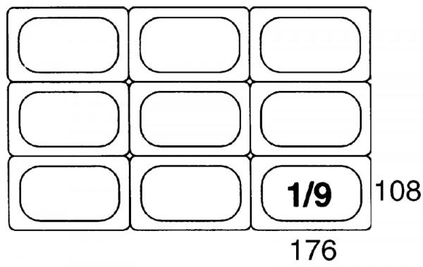 GN-Deckel 1/9, Polypropylen für Serie 5519/