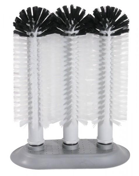 Gläserspülbürste 3x24 cm mit Großsaugfuß
